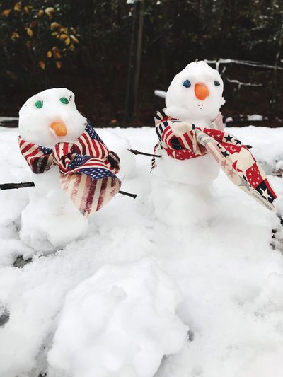 EyeEm Selects Snow Cold Winter Snowman White Color Cold Temperature Outdoors Close-up Real