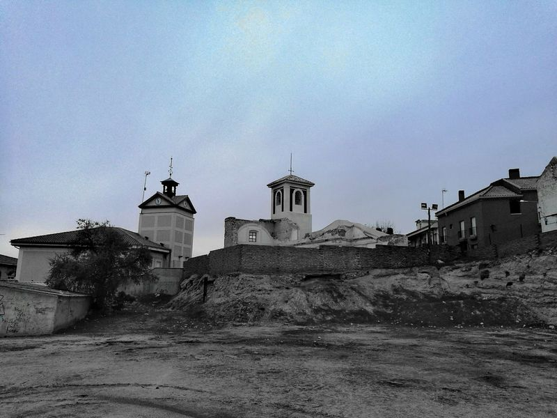 Church Tower Architecture Outdoors Architecture Building Exterior Ruins Rural Black And White