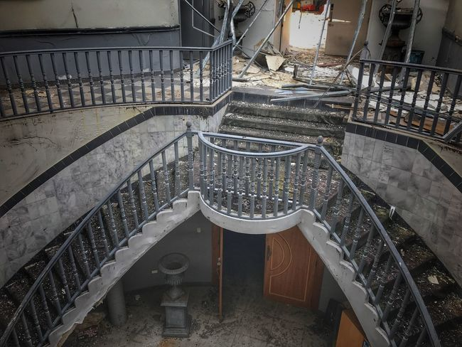 Staircase Steps And Staircases Railing Steps High Angle View Architecture No People Built Structure Indoors  Day Hand Rail