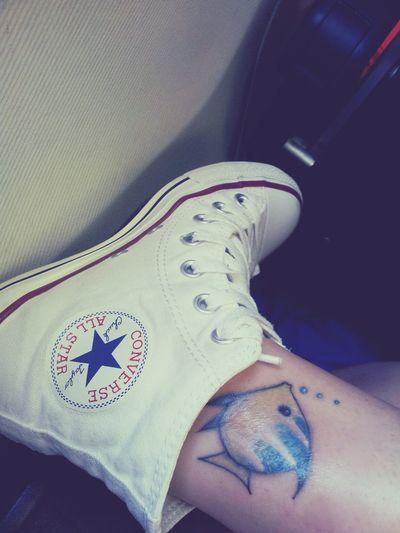 New Tatto Tropical Fish I Love Tatto Converse