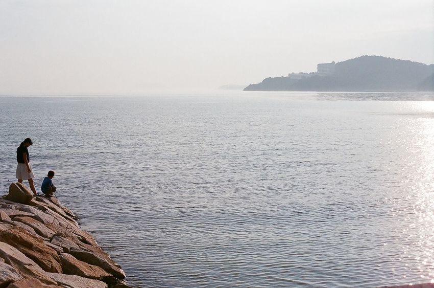 Filmcamera Film Photography Sunset Sea Harbor Nikon NikonFM2 35mm Film End Of Summer Sunlight