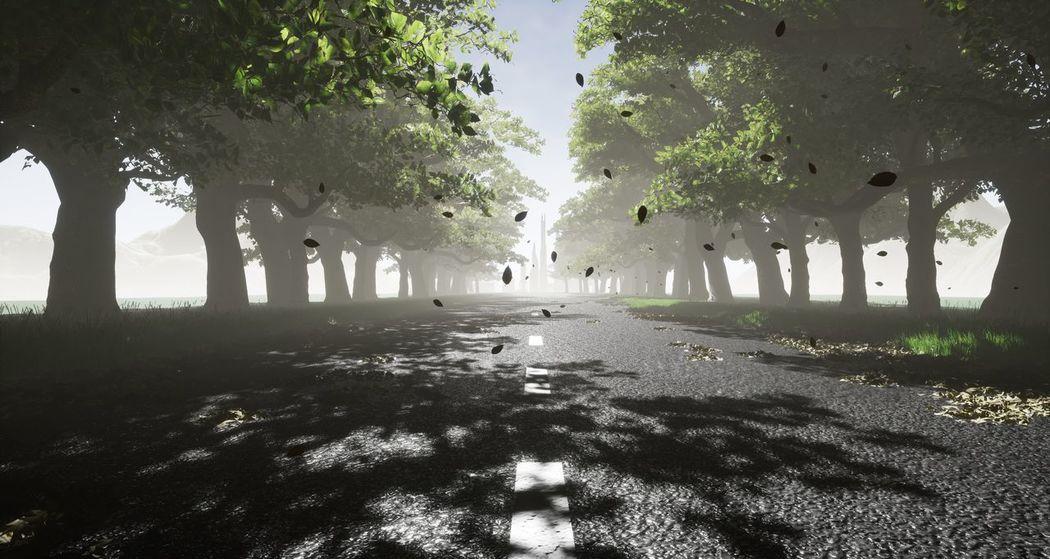 Green Street 3d Street Tree Outdoors Nature 3D 3D Art 3d Rendering 3D Photo 3D👓 3drender Unreal First Eyeem Photo EyeEmNewHere
