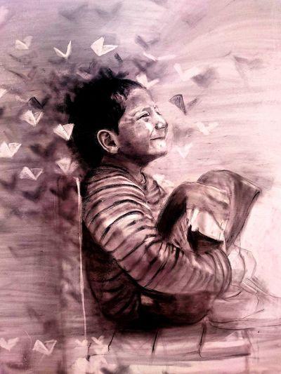 Arte Callejero Niños Alegria♥♥♥ Sentado
