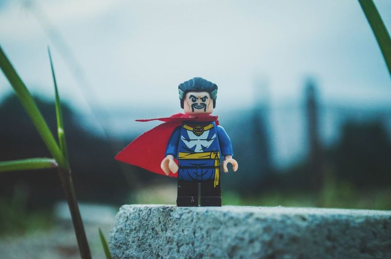EyeEm Selects Child Children Only One Boy Only Childhood Outdoors Close-up Sky Shield Toys LEGO Superhero Bokeh Photography Art Life