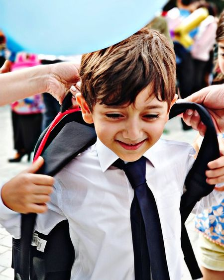School School Time  School Life  School Uniform Premiere Happy Human Hand Child Childhood Barber Cutting Hair Boys Smiling Happiness Males  Customer  Independent School First Eyeem Photo