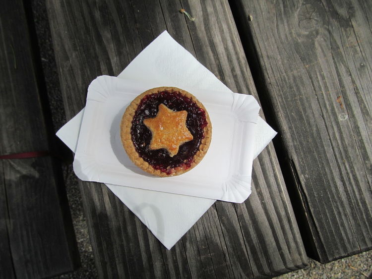 Cake Cake♥ Dessert Directly Above Food And Drink Gateaux Jam Napkin Star Sweet Food Table Wooden