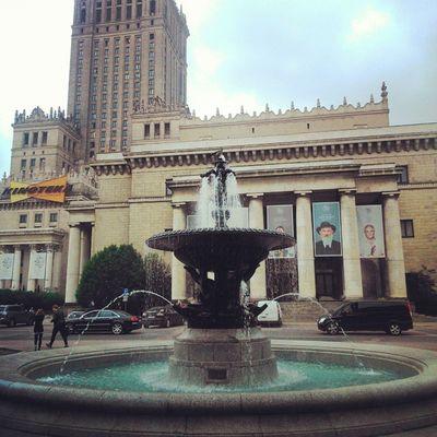 Warszawa  Wwa Polska Poland Fontanna Przykra Sprawa Deszcz Jutro Bedzie Lepiej Warsaw Balety