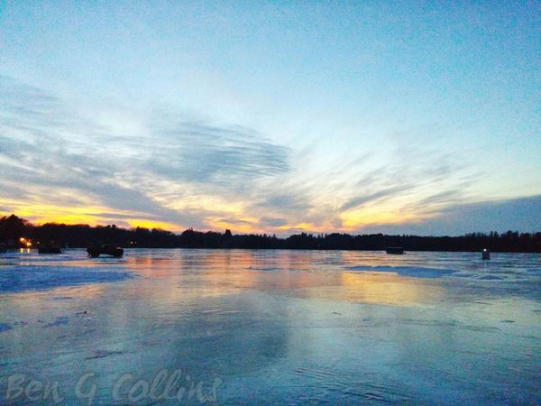 Icefishing Relaxing Godsbeauty Sunsetstalker a:10502329] Sunset Nature Nofilter Ilovesunrisesandsunsets Sunset #sun #clouds #skylovers #sky #nature #beautifulinnature #naturalbeauty #photography #landscape