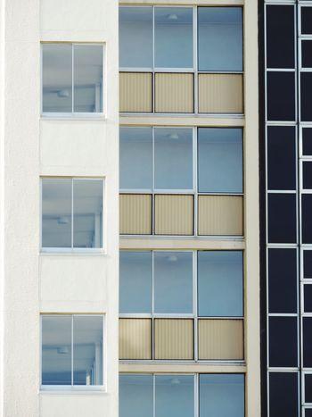 Windows Glass Windows Apartment Building Big To Small White Walls