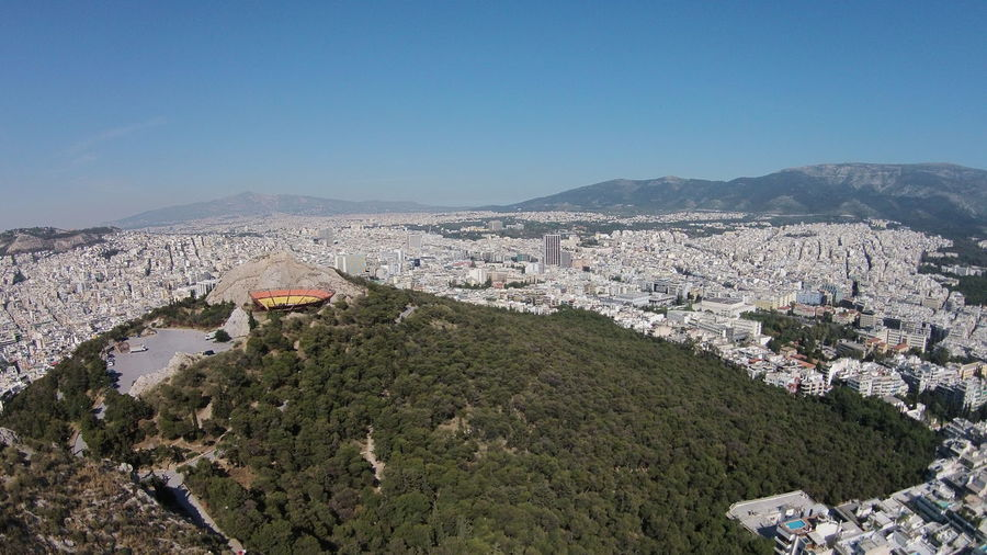 Cityscape against sky seen from lycabettus hill
