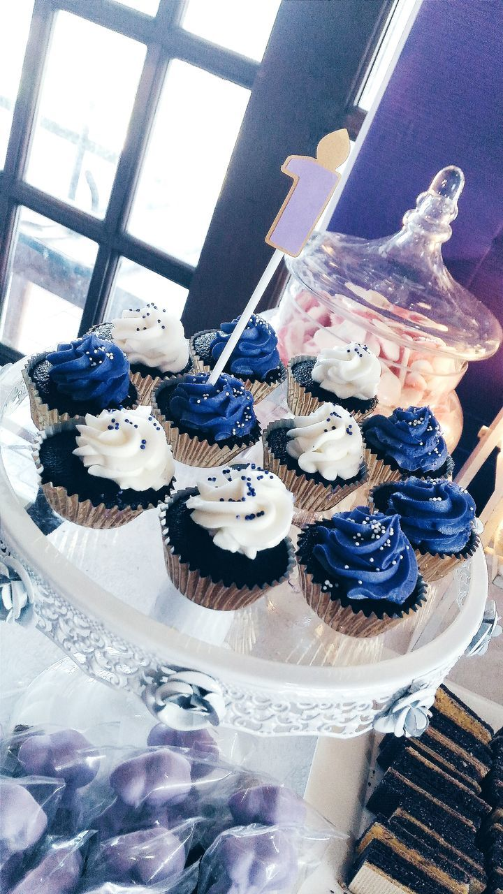 Tilt Image Of Cupcakes On Stand