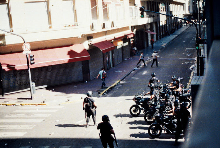 Buenos Aires Cops Police Motorcycle Policia Federal Polizei Argentina Police Politics And Government Portrait Represion Repression Street Photography Streetphotography