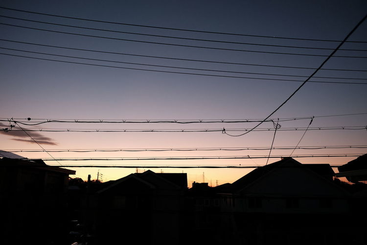 Bird Telephone Line Technology Electricity Pylon City Sunset Electricity  Cable Silhouette Business Finance And Industry