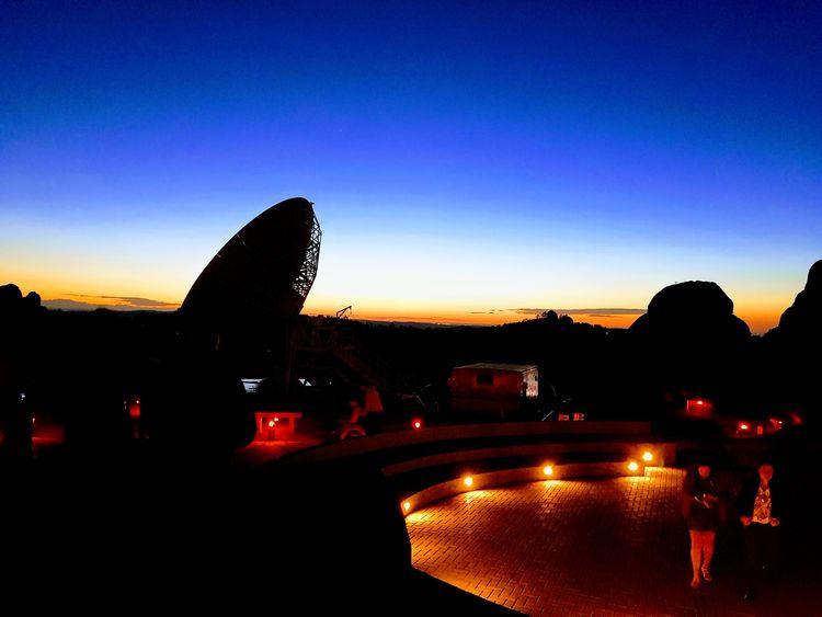 City Sunset Silhouette Illuminated Sky