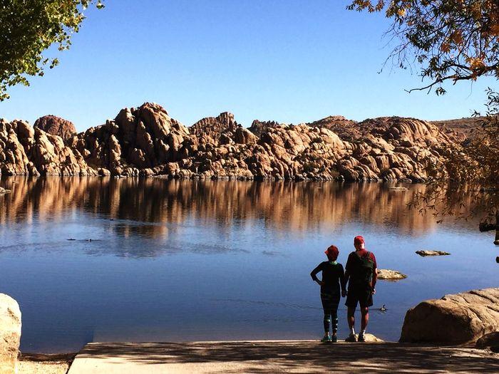 Boat Launch Prescott, AZ Lake Couple Holding Hands
