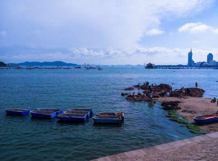Beside the sea~I work as a volunteer in qingdao for 20 days🙆 Hanging Out Hello World Hi! Relaxing Taking Photos Enjoying Life Catch The Moment Beside The Seaside Sea View July 2016 The Week Of Eyeem Water Reflections Nikon D7000 Goodtime Photography Scenery Pic Sea And Sky Blue Wave Birds Qingdao China Leisure Time Tour Sea