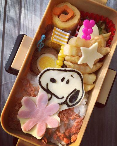 べんとー おべんとう Lunch Box Snoopy スヌーピー Kyaraben