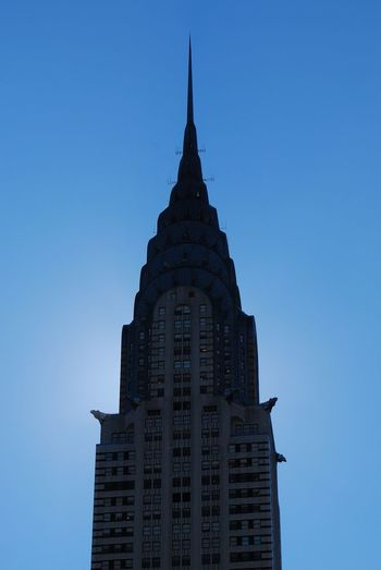 New York's Chrysler building Chrysler Building Chrysler Building New York New York City Architecture Blue Building Building Exterior Built Structure City Clear Sky Low Angle View No People Office Building Exterior Sky Skyscraper Spire  Tall - High Tower Travel Destinations