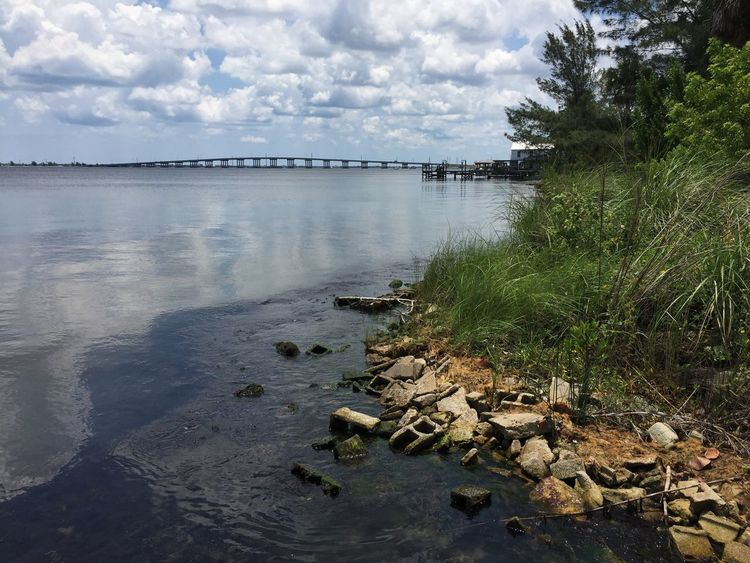 Pineada Causeway Melbourne Florida Bridge Over Water Pineada Florida Riverscape Indian River Indian River Lagoon River View Bridgescape Bridge View