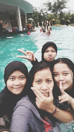 Swiming with my best friends?? In The Swiming Pool Swimming Latepost