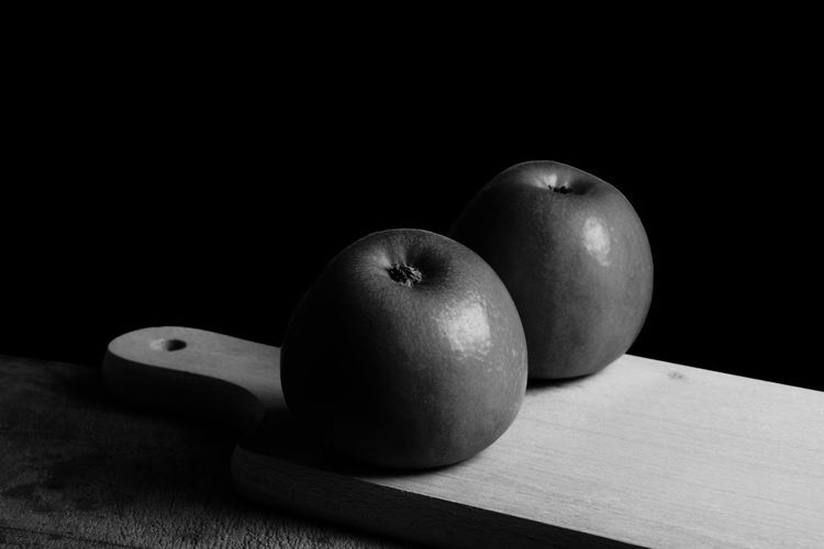 Close-up of apple on table