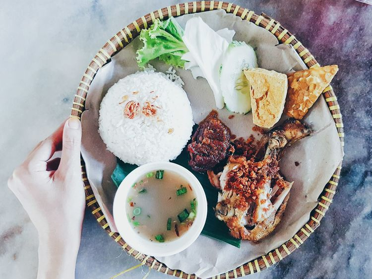 Smash chicken a.k.a ayam penyet from Indonesia Hi! Cheese! Relaxing Lovelyday Lovephotography  Spicy Food Eating Hello World Foodphotography Happiness Artphotography Foodlover Ipostprecious Lunch Break Lunch Time