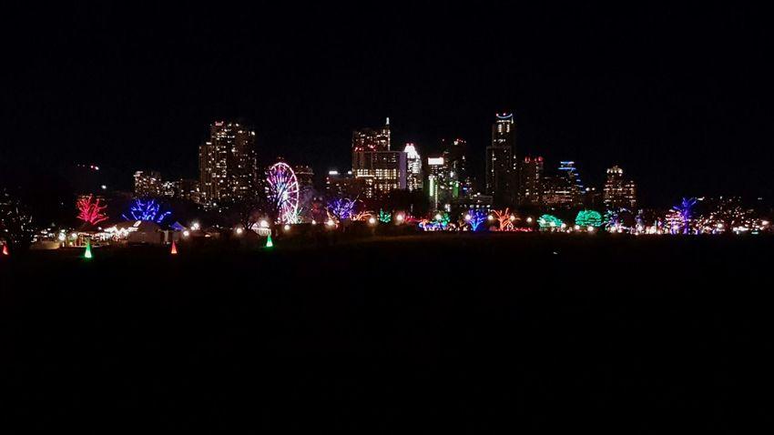Best Christmas Lights Skyline ATx Trailoflights Smartphonephotography Galaxy Note 5