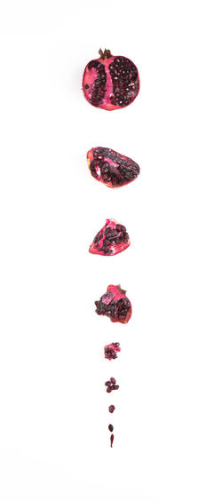 pomegrante Fine Art Photography Art Close-up Daylight Food Food Photography Foodphotography Fruit Healthy Eating Indoors  negative space No People Pomegranate White White Background