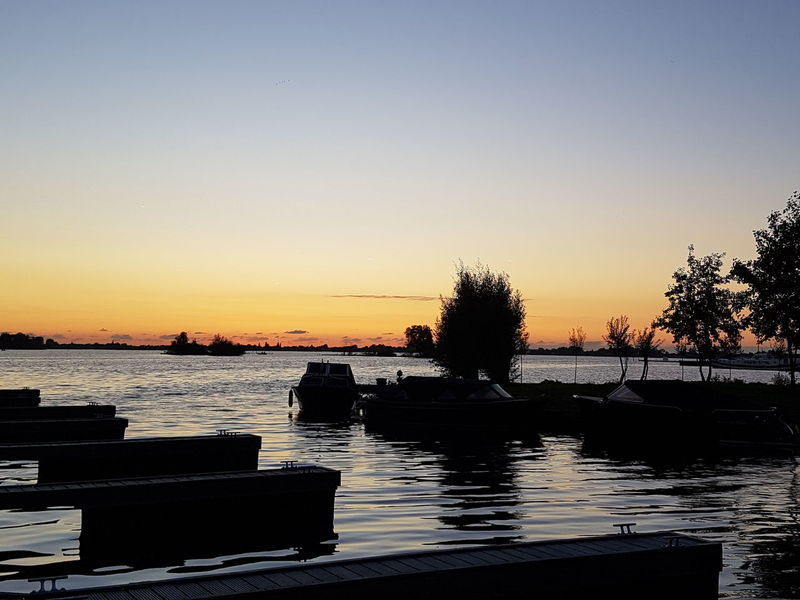 Sunset Water Sky No People Silhouette Beauty In Nature Lake Nature Reflection Tranquility Nightfall Yachtclub