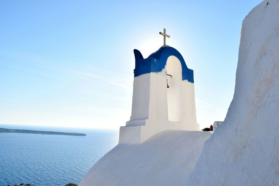 Santorini No Filter Nofilter Lighthouse History Architecture Building Exterior Outdoors Day Sky Beach Sunlight Horizon Over Water No People Religion Santorini Island Santorini, Greece Santorini Santorini Greece Santorini Church