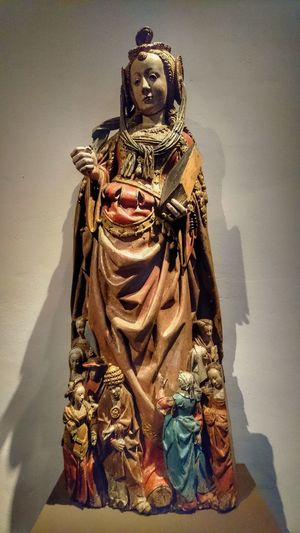 Religious Icons Saint Handcarved Wooden Statue Museum Piece Fine Art Photography