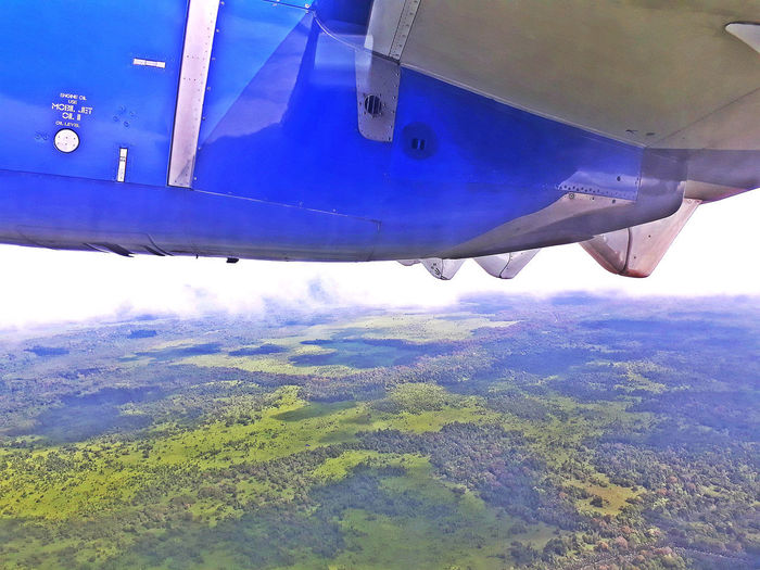 AirPlane ✈ EyeEmNewHere Air Vehicle Beauty In Nature Flying High Angle View Landscape Nature Outdoors Plane Scenics - Nature Transportation Travel