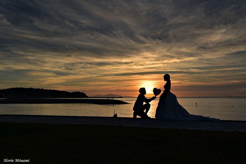 Wedding Photography Wedding EyeEm Best Shots EyeEm Selects EyeEm Gallery EyeEmNewHere Water Beach Sky Sea Sunset Land Silhouette