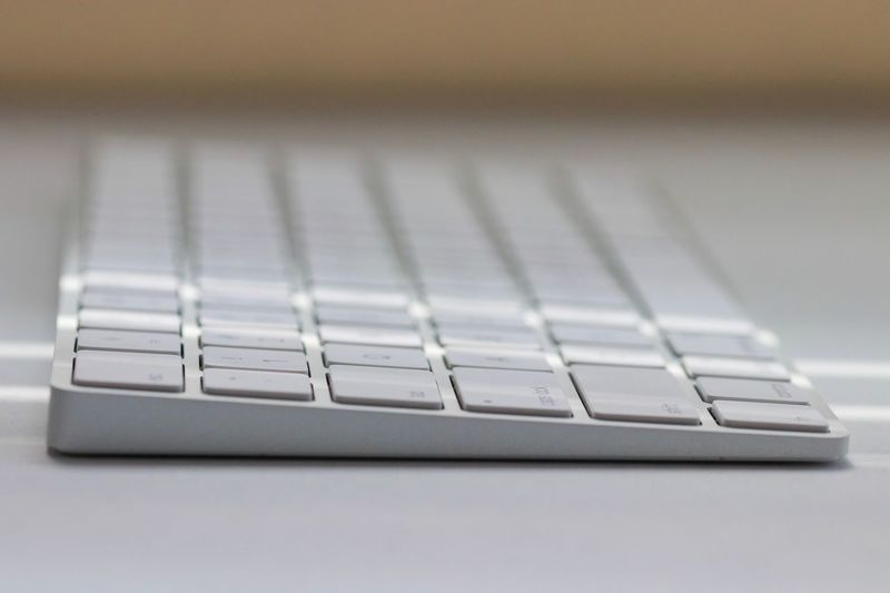 Close-up of computer keyboard on table