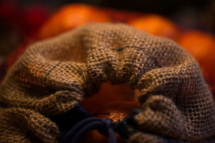 Close-Up Of Jute Sack