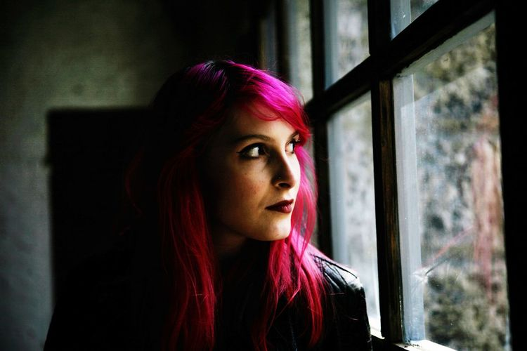 Daughter Woman Daughter EyeEm EyeEm Gallery Young Women Portrait Dyed Hair Red Pink Hair Window Redhead Headshot Close-up Dyed Red Hair My Best Photo The Portraitist - 2019 EyeEm Awards