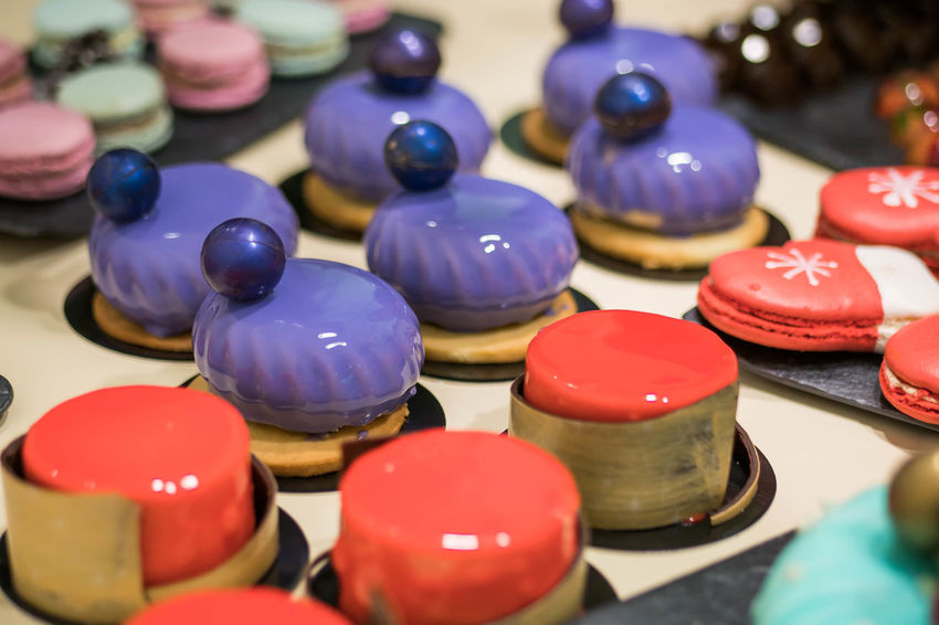 Culinary Culinary Arts Dessert Food And Drink Macarons Macaroons Cake Candy Chef christmas tree Close-up Colorful Cushion Day Decoration Food Glazed Food Handmade Indoors  Painting Party Process Sweet Food Sweets Yummy