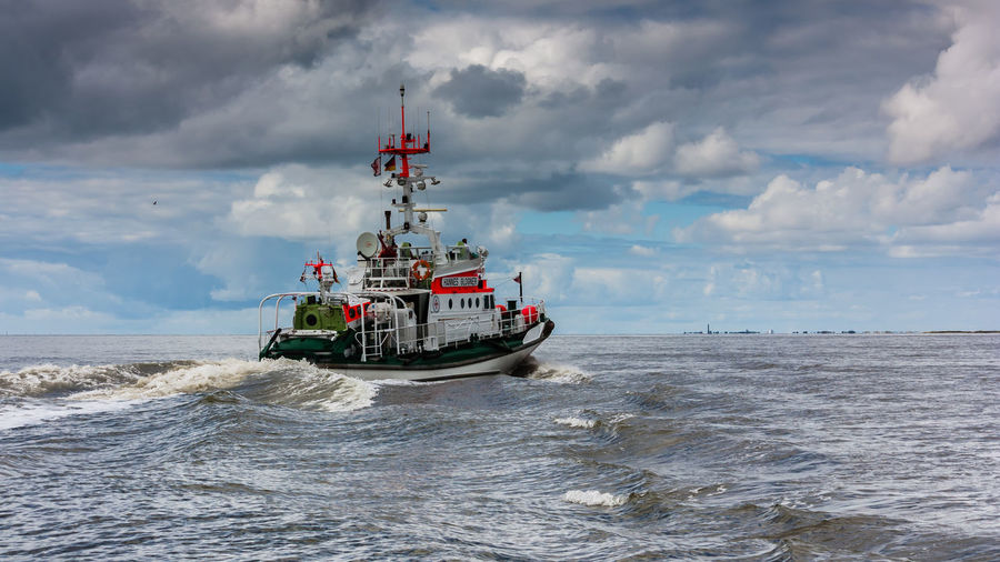 Cloud - Sky Day Hannes Glogner Nature Nautical Vessel No People Northsea Outdoors Sar Sea Sky Transportation Water
