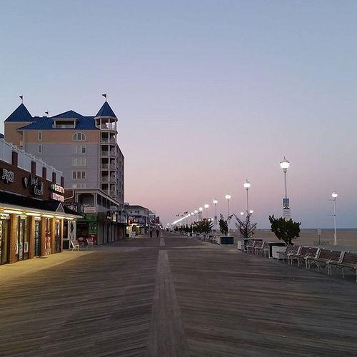 Doing a little boardwalking at Sunset Oceancitycool OceanCity Maryland Ocmd Boardwalk