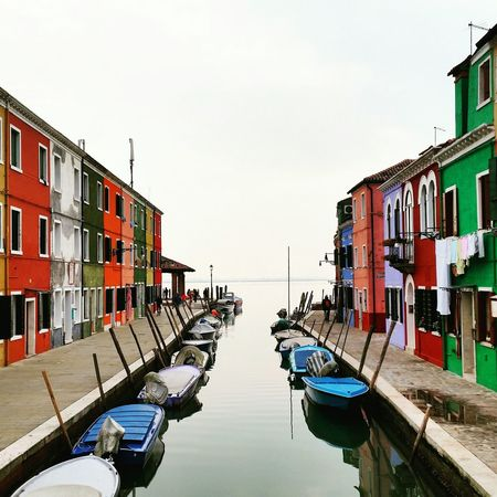 Water Multi Colored City Reflection Architecture Burano, Italy Wonderful_places Travel Destinations Travelgirl The Architect - 2017 EyeEm Awards