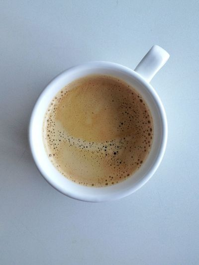 Directly above shot of coffee in cup