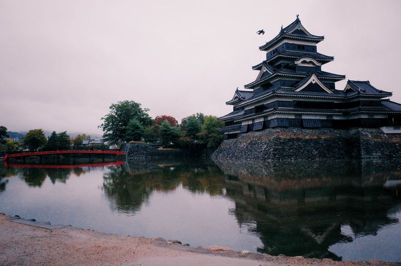 Castle Japan Architecture Building Exterior Built Structure Castel Day History Nature No People Outdoors Samurai Sky Tree Water