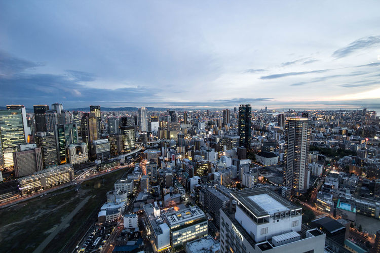 Aerial View Architecture Building Exterior City Cloud - Sky Landscape Landscape_Collection Modern OSAKA Osaka,Japan Osaka-shi,Japan Outdoors Street Photography Streetart Streetphotography Tall - High Tower UMEDA SKY BLDG Umeda Sky Building Urban Skyline Wide Shot