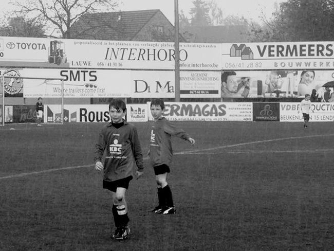 Blackandwhite Monochrome Rain Football Chidren Soccer