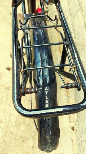 High angle view of a bicycle