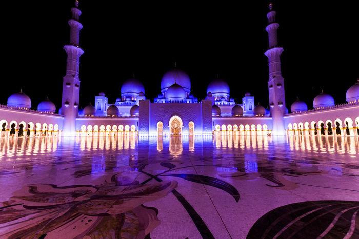 Sheikh zayed mosque Architecture Musque Night Tourism Travel First Eyeem Photo