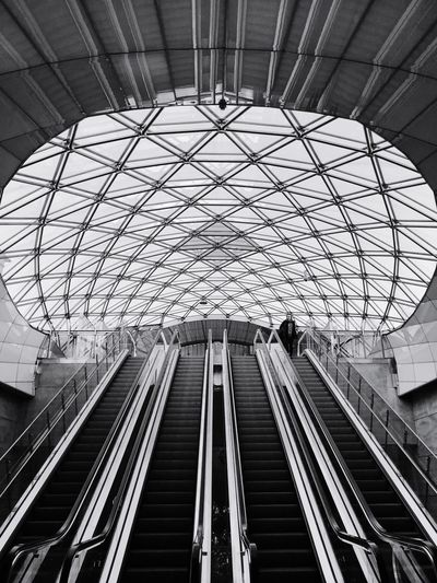 Malmö Architecture Built Structure Indoors  Ceiling Low Angle View Rail Transportation The Architect - 2018 EyeEm Awards
