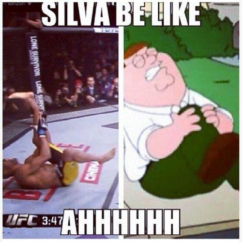 So wrong Silva Brokenleg Familyguy UFC168