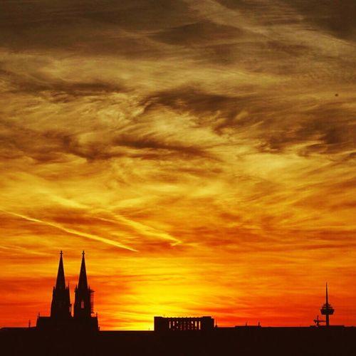 Sunset over