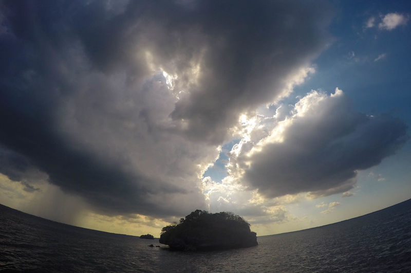 Scenic view of storm clouds over dramatic sky